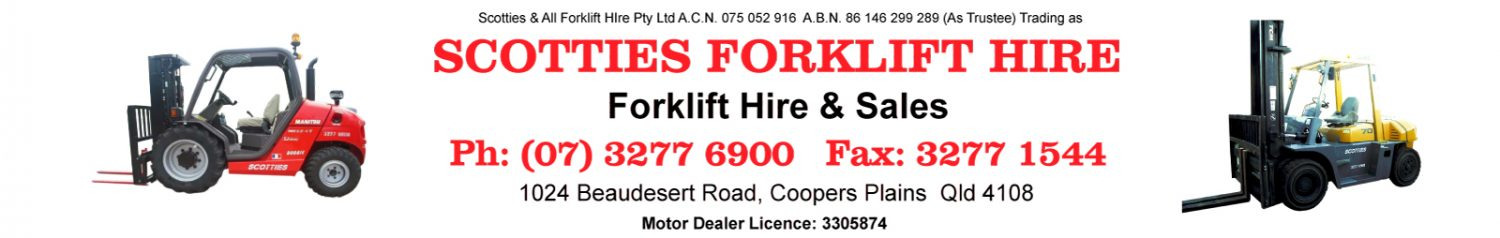 Scotties Forklift Hire