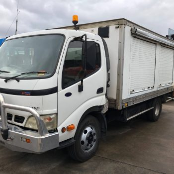 Hino Dutro 7500 Medium Hi-Grade Pantec Truck - Scotties Forklift Hire, Coopers Plains
